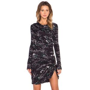 Pam and Gela twisted zip dress in camo
